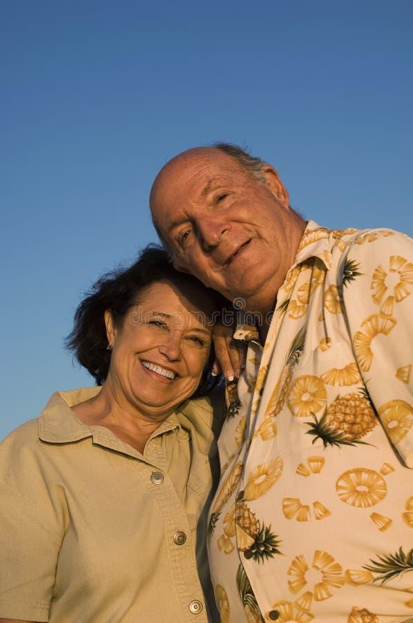 Portrait d'un couple supérieur heureux photo libre de droits