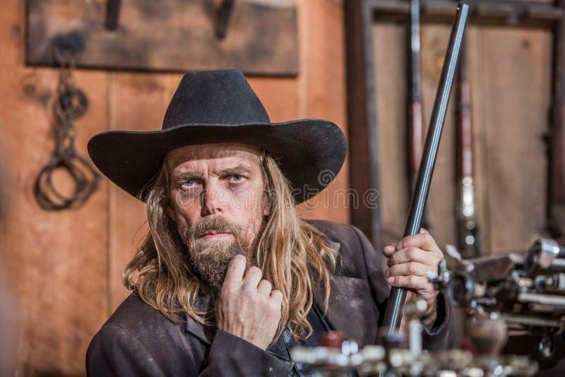 Portrait d'un cowboy image stock