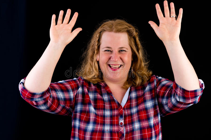 Portrait d'un d'une chevelure rouge overweighted léger européen attrayant photos libres de droits