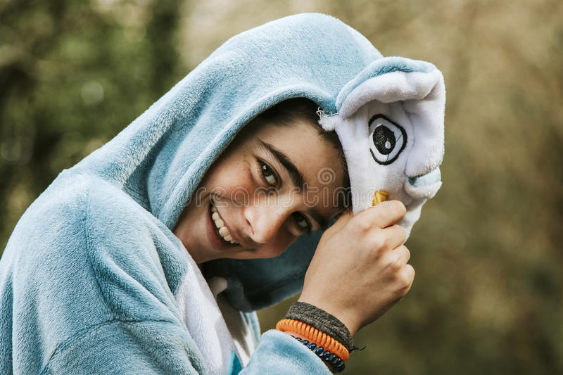 Portrait d'un garçon déguisé photo libre de droits
