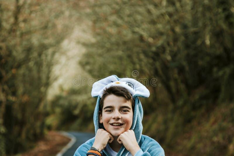 Portrait d'un garçon déguisé photos libres de droits