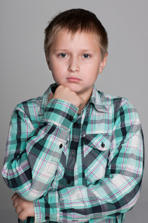 Portrait d'un garçon de renversement photos libres de droits