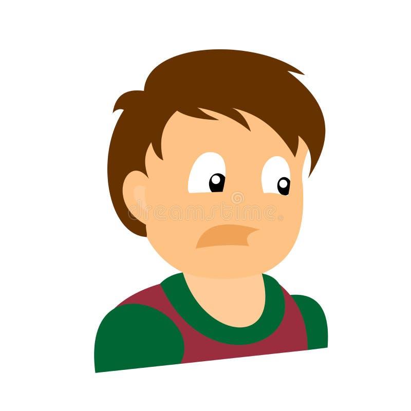 Portrait d'un garçon effrayé illustration libre de droits