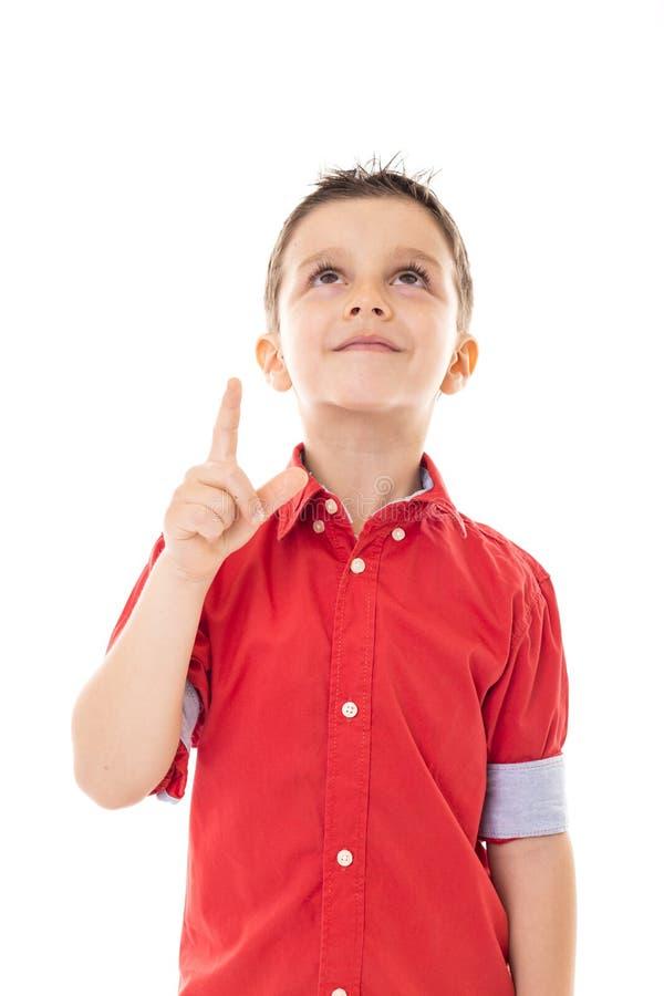 Portrait d'un garçon heureux se dirigeant  photo libre de droits