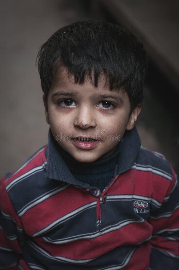 Portrait d'un garçon indien image libre de droits
