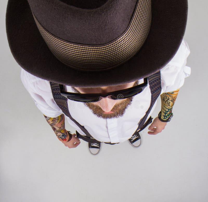 Download Portrait D'un Hippie élégant Image stock - Image du conception, fantaisie: 45371681