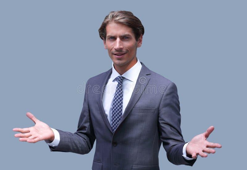 Portrait d'un homme d'affaires réussi sûr images libres de droits