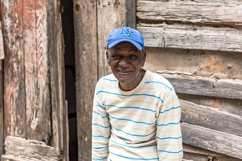 Portrait d'un homme cubain photo stock