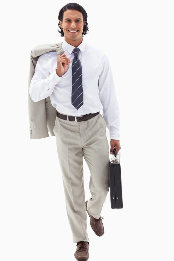 Portrait d'un homme d'affaires allant travailler photographie stock libre de droits