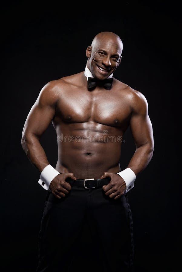 Portrait d'un homme sportif d'afro-américain photo libre de droits