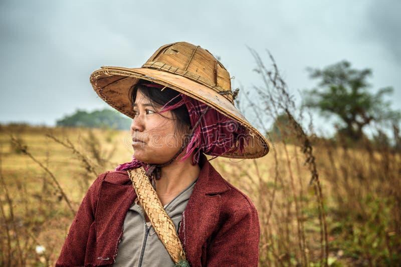 Portrait d'un jeune agriculteur féminin travaillant dans un domaine photo libre de droits
