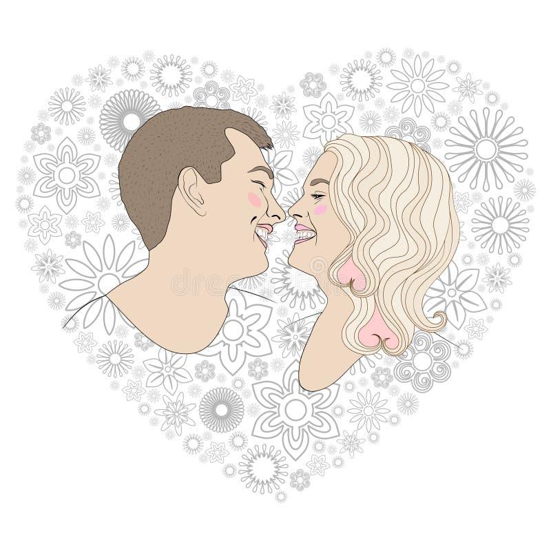 Portrait d'un jeune couple dans le garçon et la fille d'amour photos libres de droits