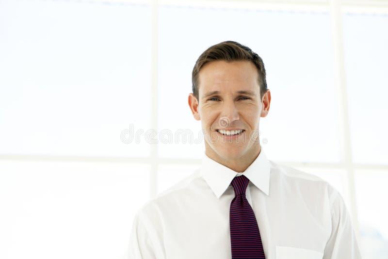 Portrait d'un jeune homme d'affaires image stock