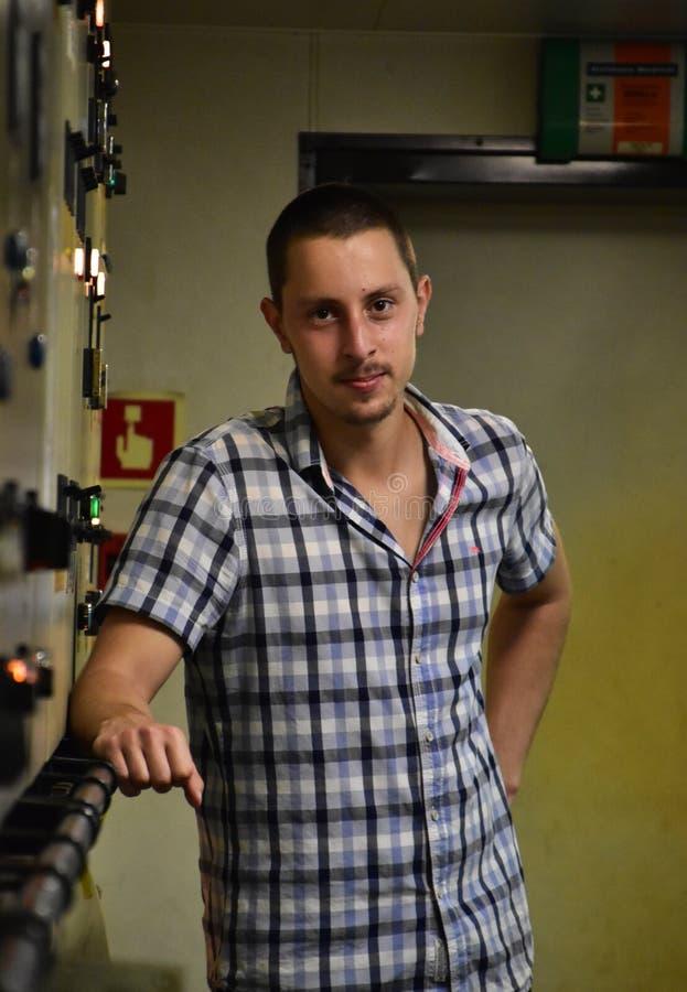 Portrait d'un jeune ingénieur image libre de droits