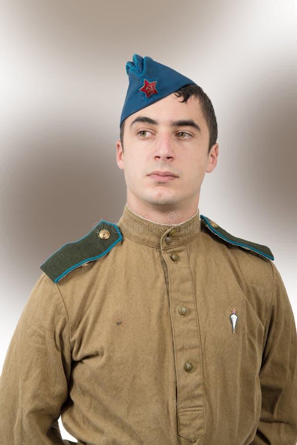 Portrait d'un jeune soldat soviétique, ww2 photos libres de droits