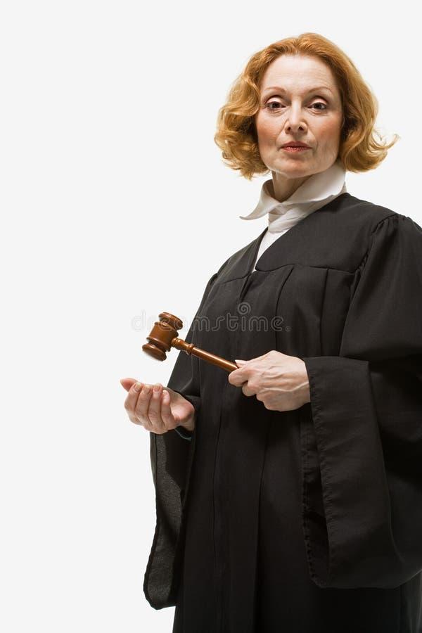 Portrait d'un juge féminin images stock
