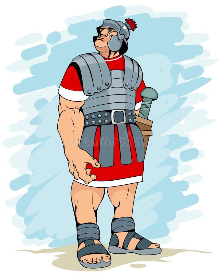 Portrait d'un légionnaire romain illustration de vecteur