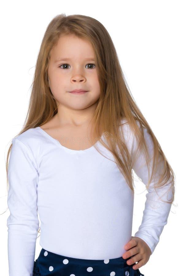Portrait d'un plan rapproch? de petite fille image libre de droits