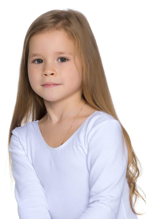Portrait d'un plan rapproch? de petite fille images libres de droits