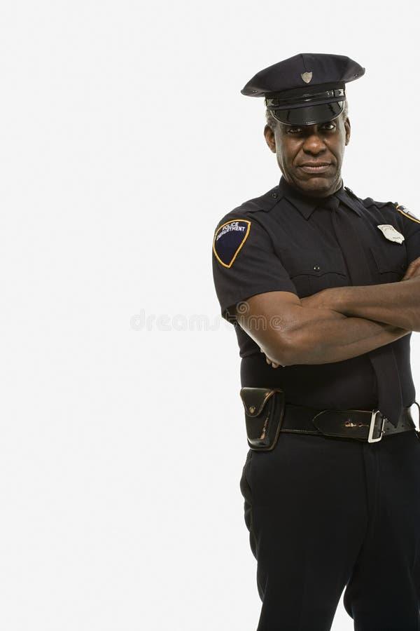 Portrait d'un policier image stock