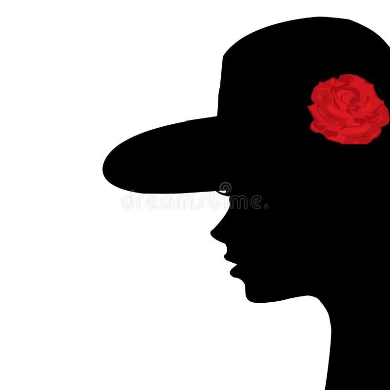 Portrait d'un profil de jeune femme illustration de vecteur