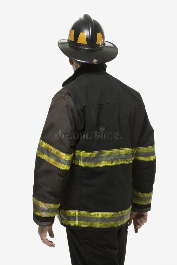 Portrait d'un sapeur-pompier images libres de droits