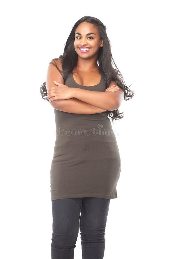Portrait d'un sourire attrayant de femme d'afro-américain photos stock