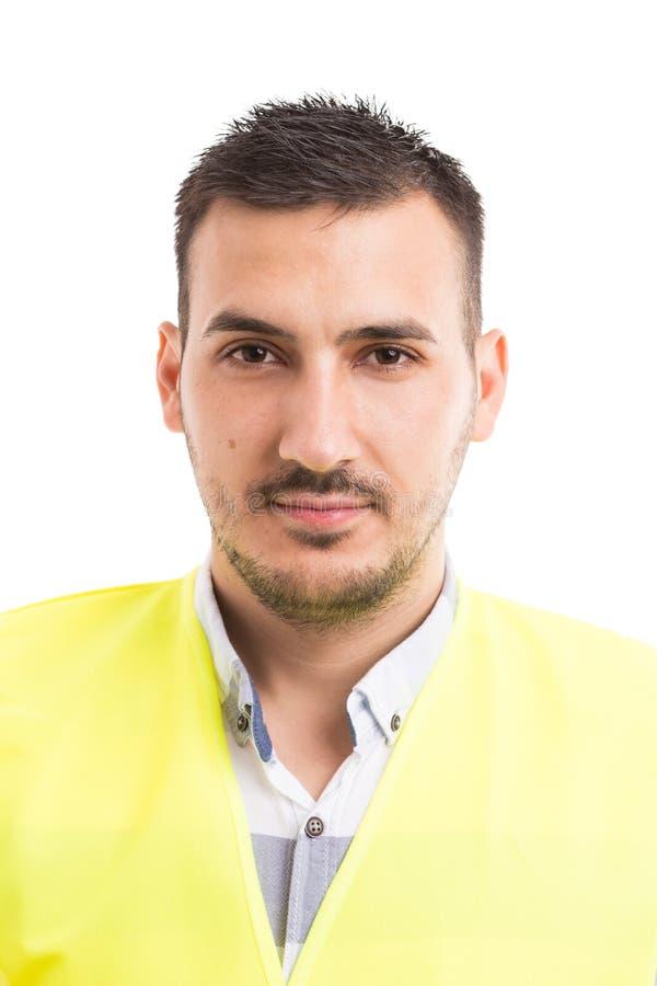 Portrait d'un superviso de travailleur de la construction ou d'inspecteur de constructeur image libre de droits