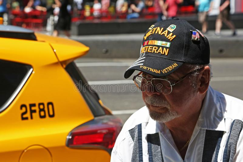 Portrait d'un vétéran du Vietnam photo stock