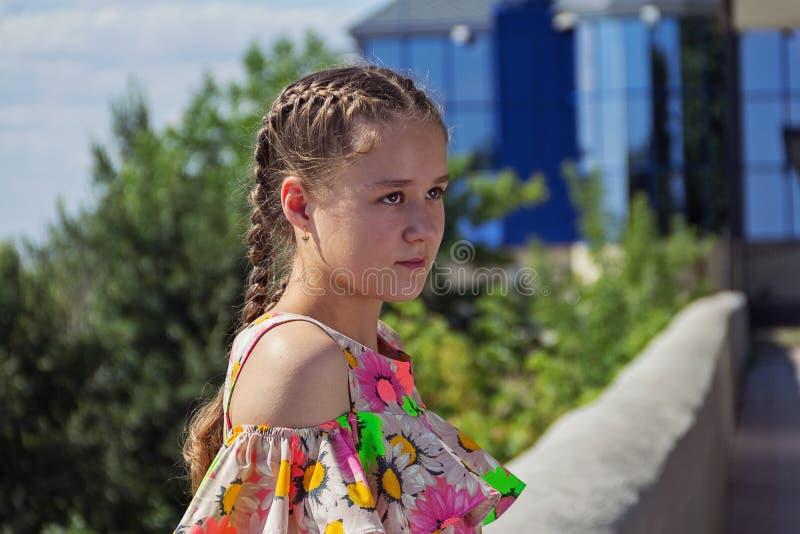 Portrait d'une adolescente image libre de droits