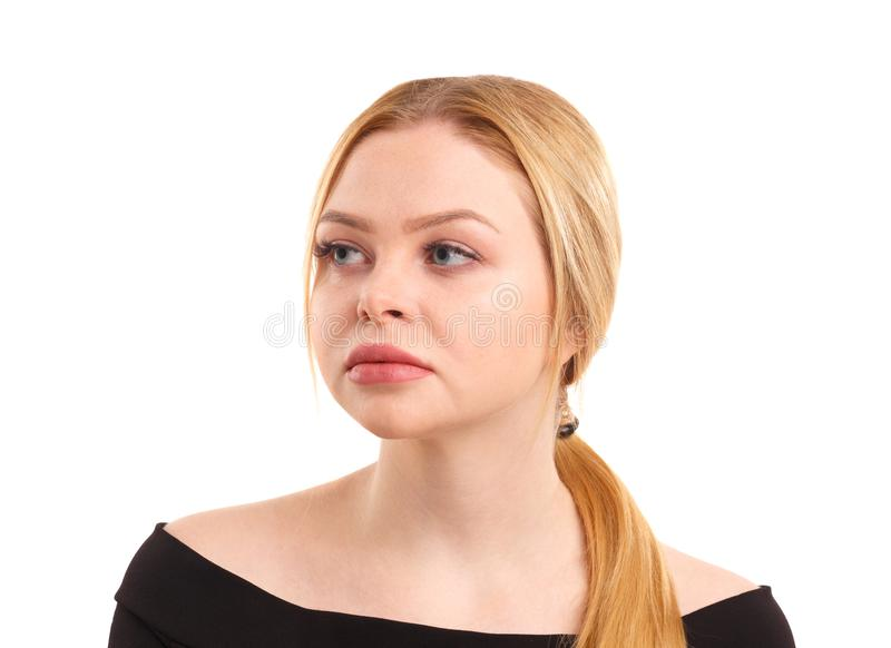 Portrait d'une belle et attirante femme D'isolement sur le fond blanc photo libre de droits