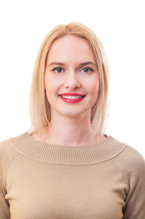 Portrait d'une belle femme blonde photo stock