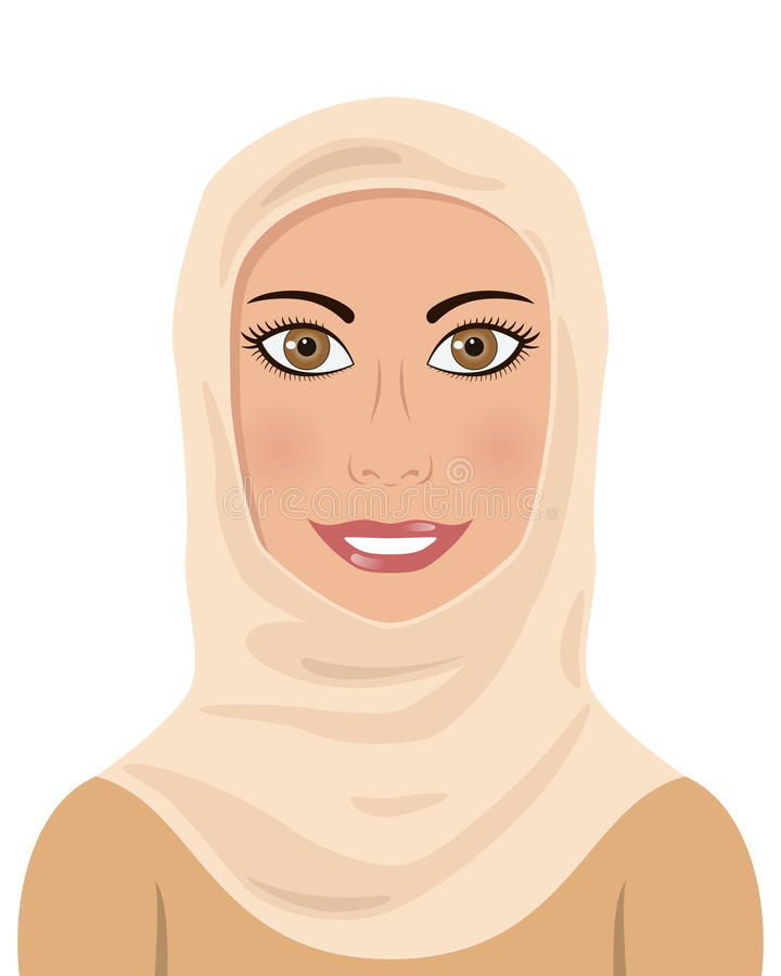 Femme musulmane portant un Hijab illustration de vecteur