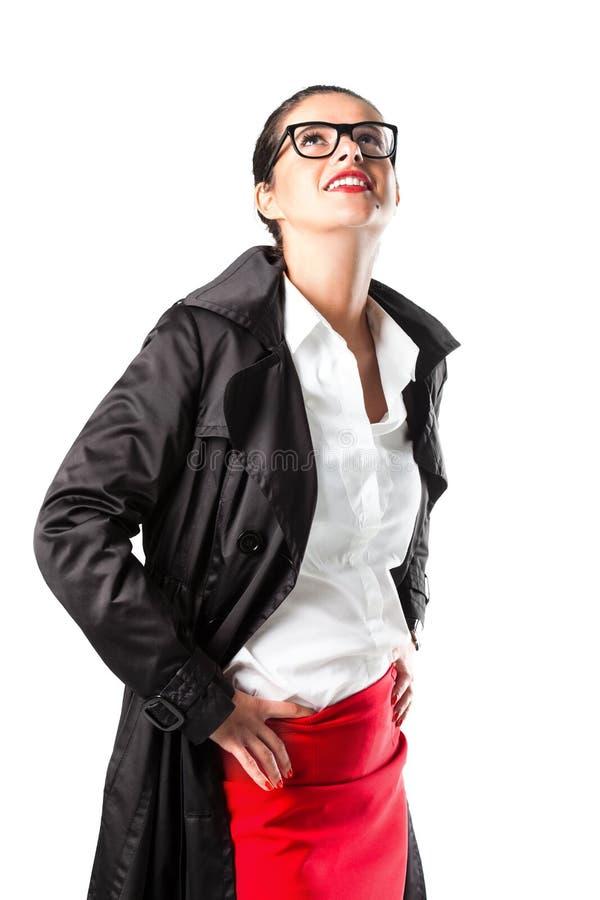 Portrait d'une belle fille d'affaires avec des verres photo libre de droits