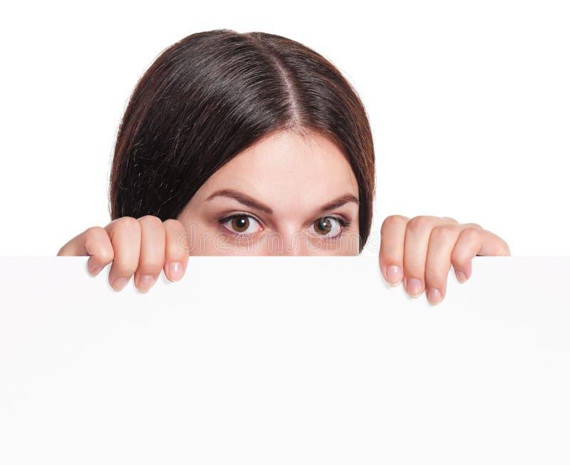 Femme avec un blanc photos libres de droits