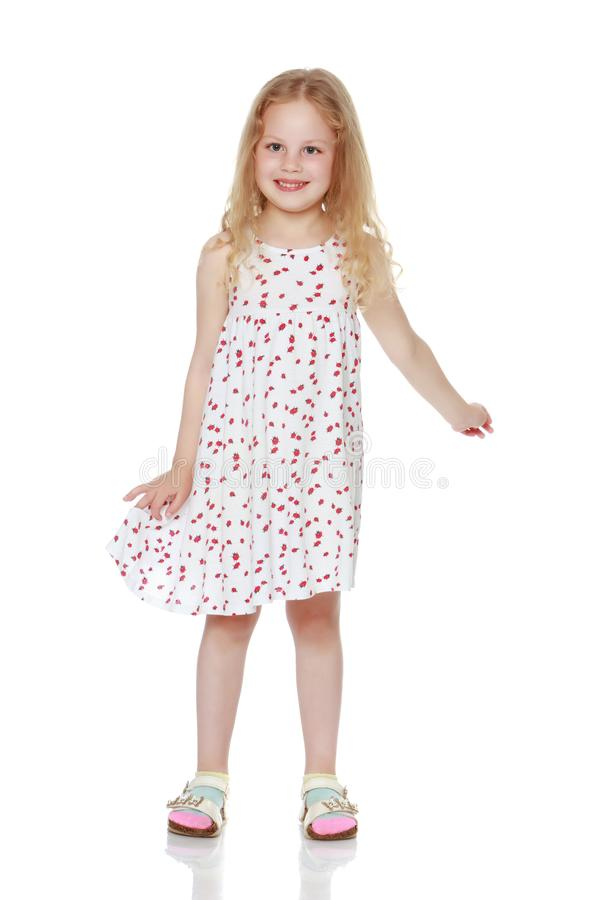 Portrait d'une belle petite fille image libre de droits