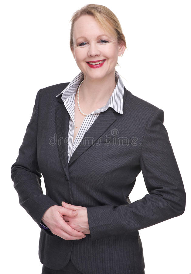 Portrait d'une femme amicale d'affaires photo stock
