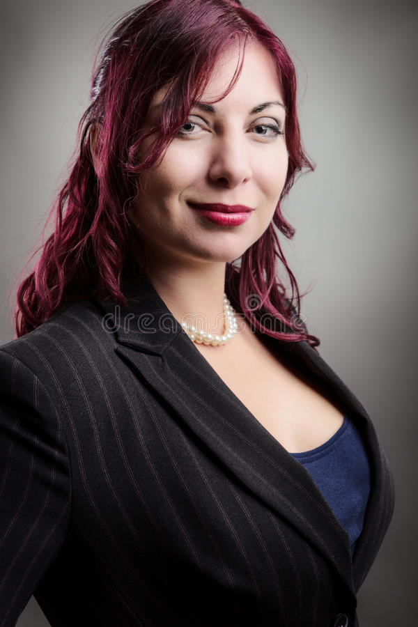 Portrait d'une femme d'affaires images stock