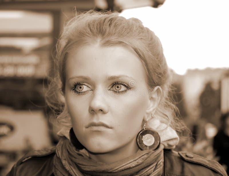 Portrait d'une fille photographie stock