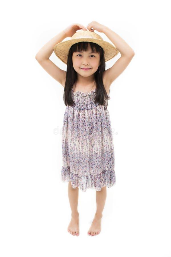 Portrait d'une fille assez jeune photo stock