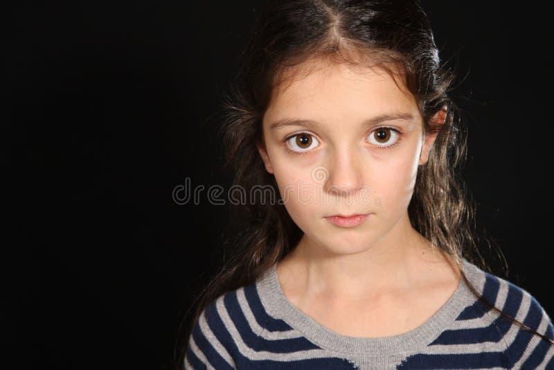 Portrait d'une fille assez jeune photos stock