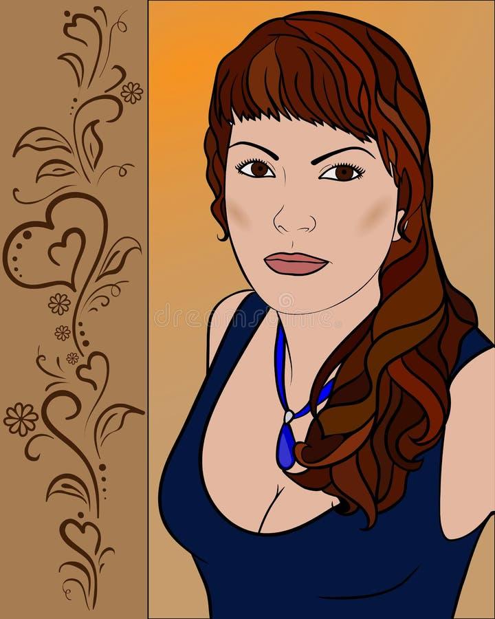 Portrait d'une fille avec les yeux expressifs images libres de droits
