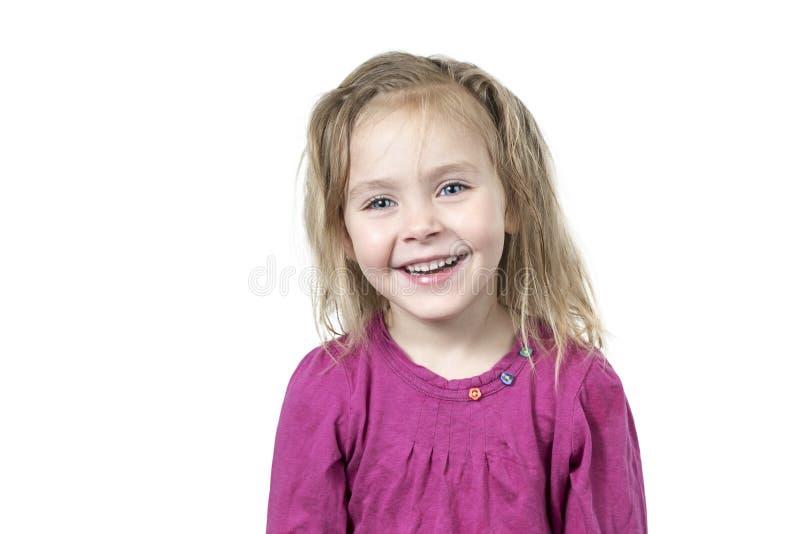Portrait d'une fille mignonne de sourire image libre de droits