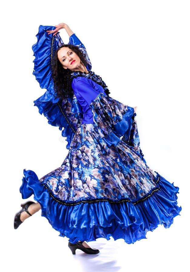 Portrait d'une jeune femme qui danse le flamenco photographie stock libre de droits