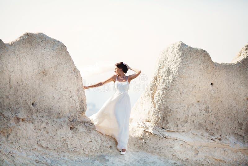 Portrait d'une jeune mariée image stock
