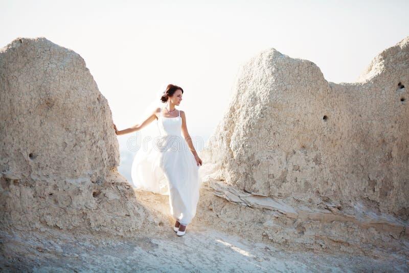 Portrait d'une jeune mariée images stock