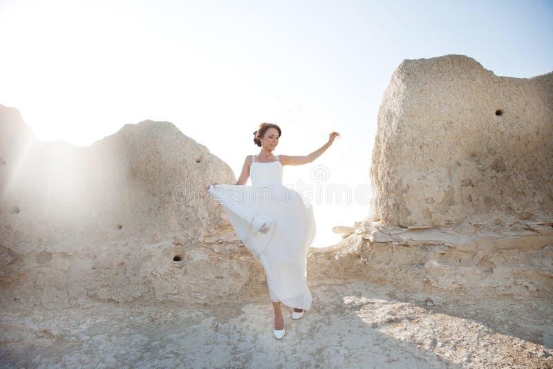Portrait d'une jeune mariée photographie stock libre de droits