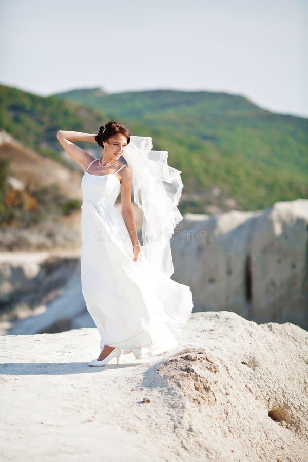 Portrait d'une jeune mariée photos libres de droits