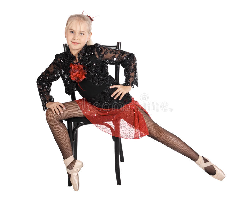 Portrait of the dancer royalty free stock photo