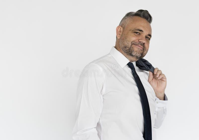 Portrait of a dapper businessman.  stock images